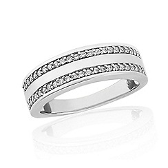 Love Story - Sterling Silver Stone-Set Ladies Dress Ring
