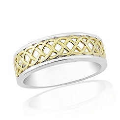 Love Story - 9ct Gold Plated On Silver Ladies Dress Ring