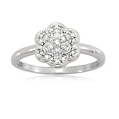 Love Story - 9ct White Gold Ladies 0.15ct Diamond Ring