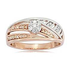 Love Story - 9ct Rose Gold Ladies 0.15ct Diamond Ring