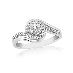Love Story - 9ct white gold 0.20 pt diamond set ladies ring