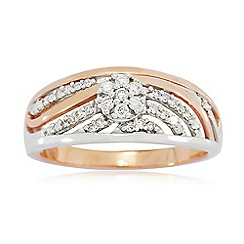 Love Story - 9ct Rose Gold Ladies 0.20ct Diamond Ring