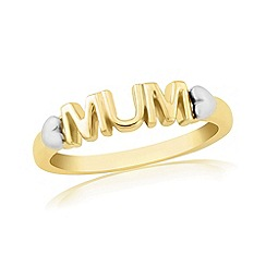 Precious Moments - 9ct gold plated on silver 'mum' dress ring