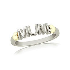Precious Moments - Sterling Silver & 9ct Gold 'Mum' Dress Ring