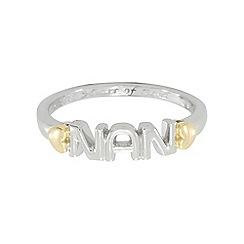 Precious Moments - Sterling Silver & 9ct Gold 'Nan' Dress Ring
