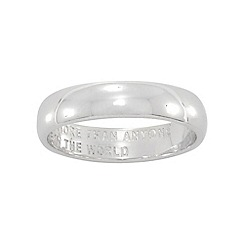 Precious Moments - Sterling Silver Ladies Commitment Ring with Message