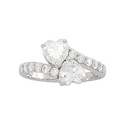 Precious Moments - Sterling Silver Stone set Heart Dress Ring