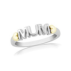 Love Story - Sterling silver and yellow rhodium 'mum' dress ring