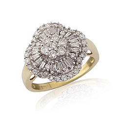 Love Story - 9ct gold 1 full carat diamond ring