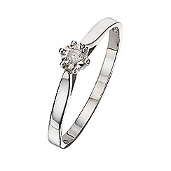 Starlight - 9 carat white gold 0.02ct diamond illusion set solitaire ring