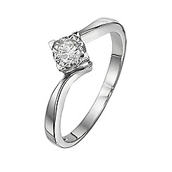Starlight - 9 carat white gold 0.15ct diamond illusion set solitaire ring