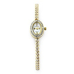 Sovereign - 9ct Gold Plate on Sterling Silver Diamond Set Watch
