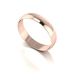 Love Story - 9ct red gold 4mm d shaped wedding band