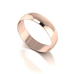 Love Story - 9ct red gold 5mm d shaped wedding band
