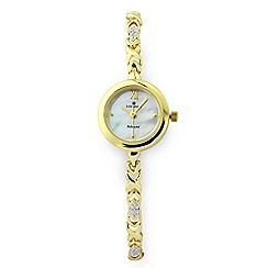 Sovereign - Gold Plated on Sterling Silver Diamond Set Watch