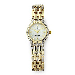 Sovereign - 9ct Gold Plate on Sterling Silver CZ Watch