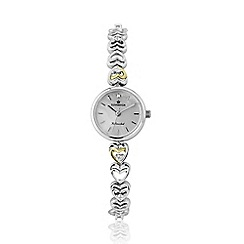 Sovereign - Sterling Silver and 9ct Gold Cubic Zirconia Set Watch