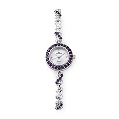 Sovereign - Silver amethyst ladies bracelet watch