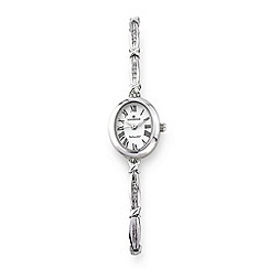 Sovereign - Silver ladies diamond bracelet watch