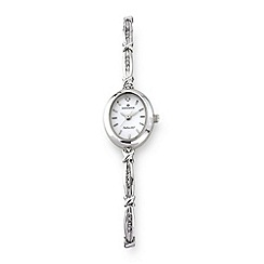 Sovereign - Silver ladies diamond set bracelet watch