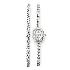 Sovereign - Silver diamond set bracelet & watch