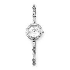 Sovereign - Silver diamond set bracelet watch