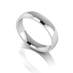 Love Story - Silver 4mm med court wedding ring