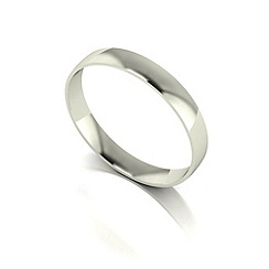 Love Story - 9ct white gold 3mm court wedding band