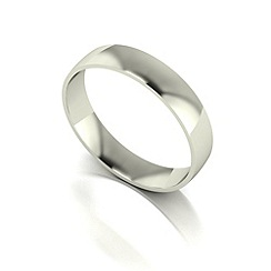 Love Story - 9ct white gold 4mm court wedding band