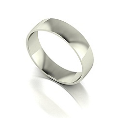 Love Story - 9ct white gold 5mm court wedding band