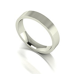 Love Story - 9ct white gold 4mm flat wedding band