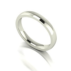 Love Story - 9ct white gold 3mm med court wedding ring
