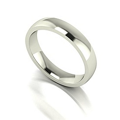 Love Story - 9ct white gold 4mm med court wedding ring