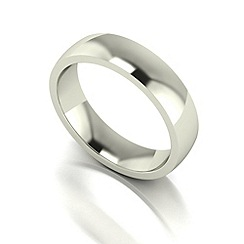 Love Story - 9ct white gold 5mm med court wedding ring