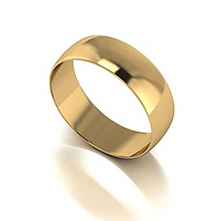 Love Story - 9ct gold 6mm d shaped wedding band