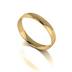 Love Story - 9ct gold 3mm court wedding band