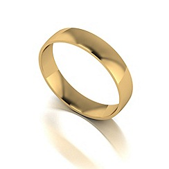 Love Story - 9ct gold 4mm court wedding band