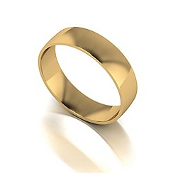 Love Story - 9ct gold 5mm court wedding band