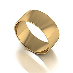 Love Story - 9ct gold 8mm court wedding band