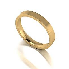 Love Story - 9ct gold 3mm flat wedding band