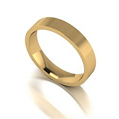 Love Story - 9ct gold 4mm flat wedding band