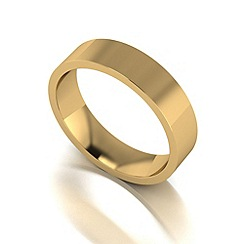 Love Story - 9ct gold 5mm flat wedding band