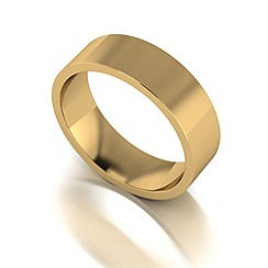 Love Story - 9ct gold 6mm flat wedding band