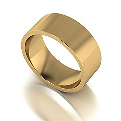 Love Story - 9ct gold 8mm flat wedding band