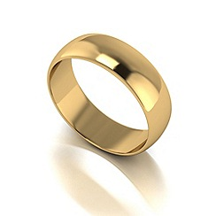 Love Story - 9ct gold 6mm med d shaped wedding ring