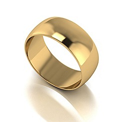Love Story - 9ct gold 8mm med d shaped wedding ring