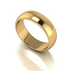 Love Story - 9ct gold 6mm heavy d shaped wedding ring