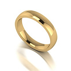 Love Story - 9ct gold 4mm med court wedding ring