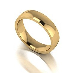 Love Story - 9ct gold 5mm med court wedding ring