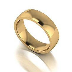 Love Story - 9ct gold 6mm med court wedding ring